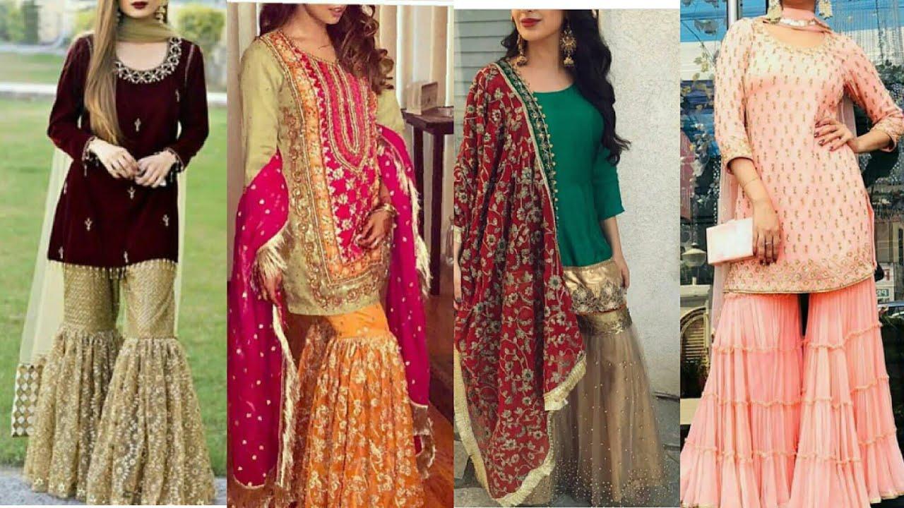 """""""Ishq subhan Allah""""_zara (esha singh)ki most stylish designer gharara and sharara suits #1"""