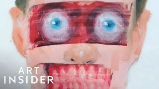 Scary Art Hidden Under Normal Paintings