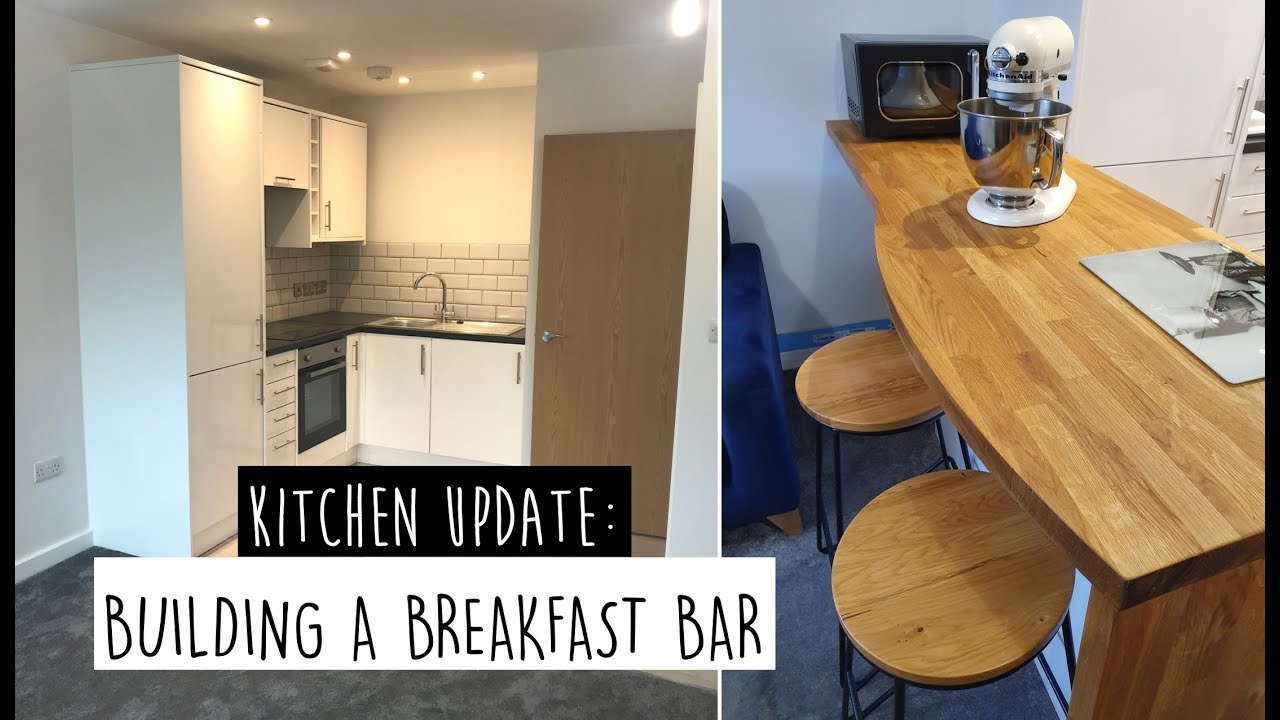 Kitchen Diy Building A Breakfast Bar From Scratch Youtube