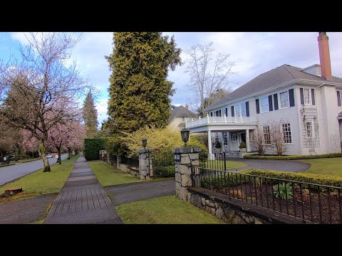 Vancouver BC Canada's Fancy & Luxurious Area. Kerrisdale Area. Churchill, Marguerite Street, W40th.