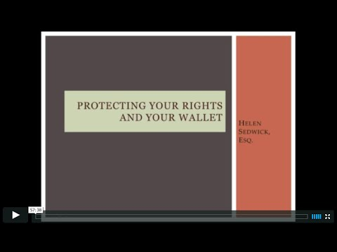 Protecting Your Rights and Your Wallet / Self-Publishing Webinar