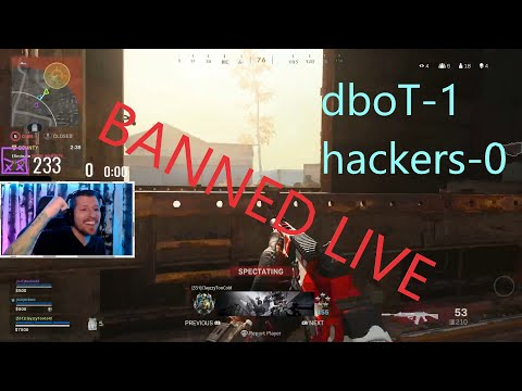 Warzone Hacker CAUGHT and BANNED live on stream!