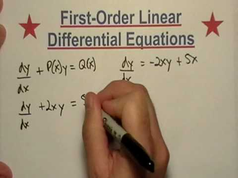 Solving First Order Differential Equations