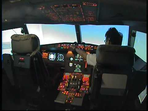 Sharan L Appa Flight Test Airbus A320 @ Singapore simulator