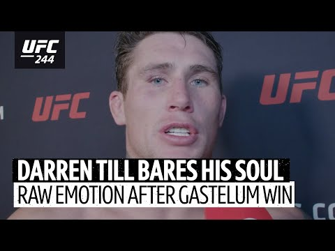"""Incredibly emotional Darren Till post-fight interview! """"I gave my heart and soul for this!"""""""