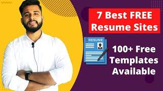 FREE Resume Building Websites | Get Resume Templates for Freshers | BY Anurag Srivastava screenshot 5