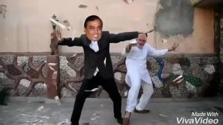 Mukesh Ambani & Modi dancing together! Funny Video