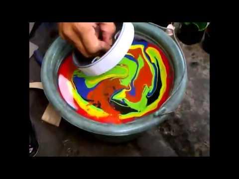 Cara Mudah Transfer Cat Menggunakan Air - Pilox Samurai Paint