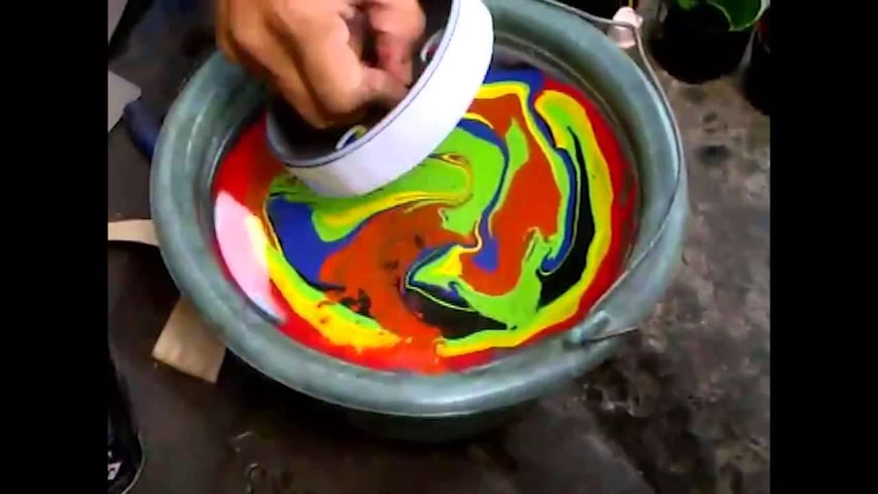 Cara mudah transfer cat menggunakan air - Pilox Samurai Paint ...