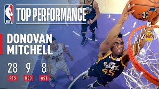 Donovan Mitchell Puts On A SHOW In LA!