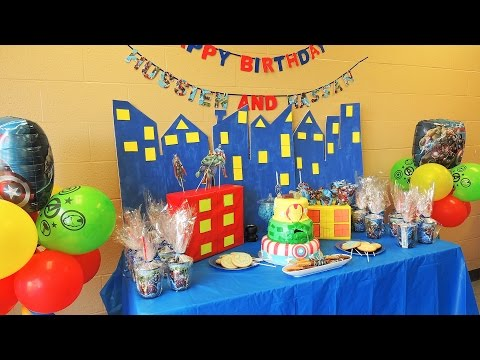 The Avengers Birthday theme party ideas