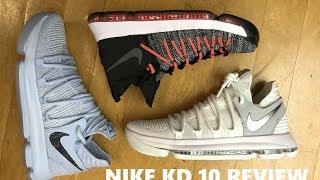 Nike KD 10 Anniversary Faint Blue Sneaker Review Comparison With Elite 9
