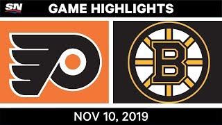 NHL Highlights | Flyers vs. Bruins - Nov. 10, 2019