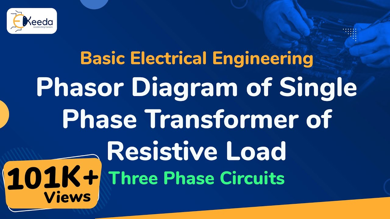 Phasor Diagram Of Single Phase Transformer Resistive Load Three Circuit Threephasecircuits Basicelectricalengineering Beevideolectures