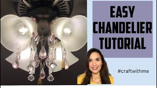 DIY | How to make an AMAZING ceiling fan CHANDELIER | EASY Tutorial | Craft With Dale