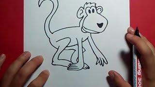 Como dibujar un mono paso a paso 5 | How to draw a monkey 5