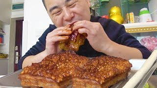 "Eating red wine pork will dizzy, today eat ""crusty pork belly"", with green onion, incense! !"