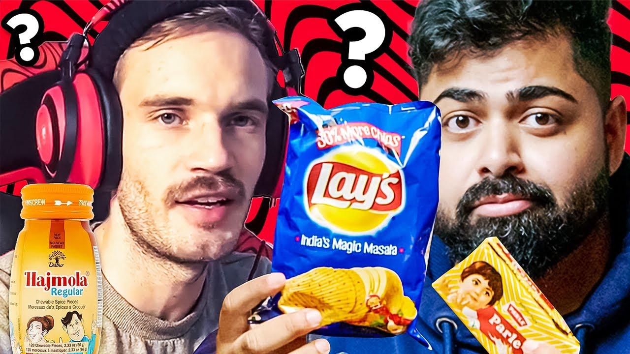 PewDiePie for INDIAN Snacks?!