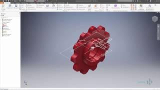 03 Создание звездочки в Autodesk Inventor Часть #3