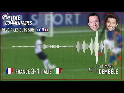 France 3-1 Italie : Le but de DINGUE de Dembélé (commentaires G. Margotton et B. Lizarazu)