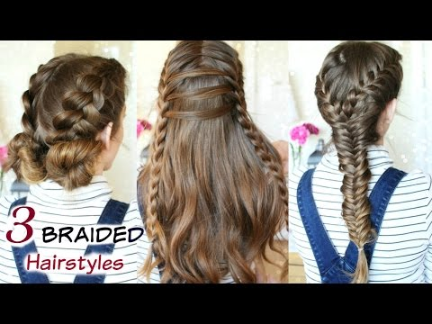 3 Cute Heatless Braided Hairstyles | Braid ideas | Braidsandstyles12