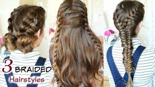 3 Cute Heatless Braided Hairstyles | Braid ideas | Braidsandstyles12
