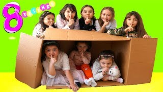 Eight  friends played hide and seek and  the floor is lava - fun kids video