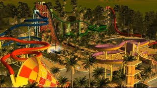 Rollercoaster Tycoon 3: Extreme Water Park (HD) Best Park on YouTube!