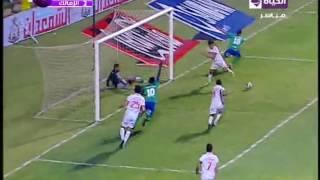 بالفيديو ..السيد حمدى يحرز الهدف الأول للمقاصة فى مرمى الزمالك ويقلل الفارق