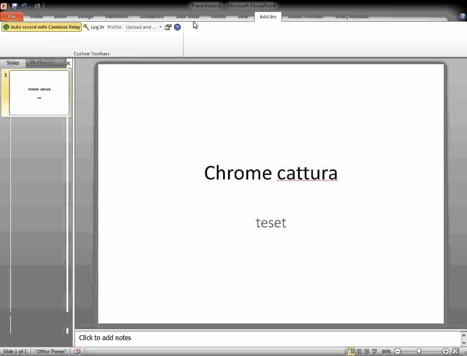 chrome powerpoint youtube