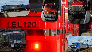 7月4.8日 名古屋近郊を走る貨物列車と名鉄9500系甲種!! EL120も色々いっぱい14本!!