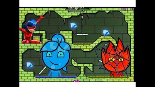 ПРИКЛЮЧЕНИЯ ОГОНЬ и ВОДА в Ледяном храме #4 Развлекательное видео для детей Игровой мультик