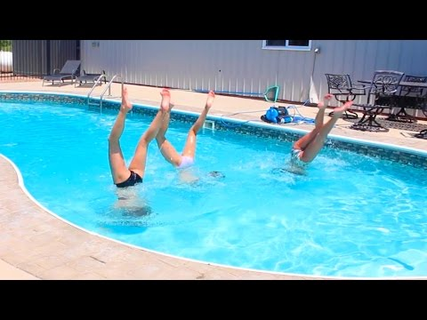 CHEER AND GYMNASTICS AT THE POOL! video download