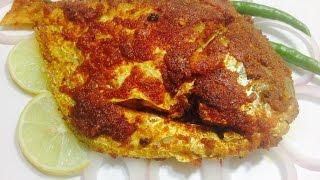 Super Tasty Pomfret Fish Fry-Masala Fried Pomfret Recipe-Pomfret Fry