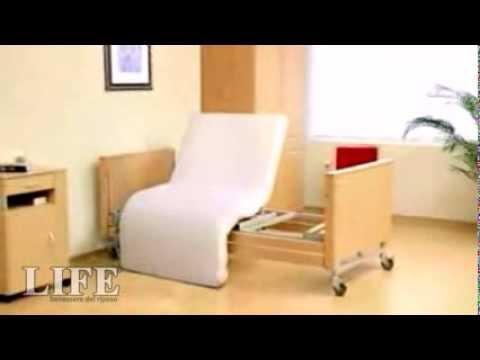 Letto rotante modello life per anziani e disabili letto - Letto con sponde per anziani ...