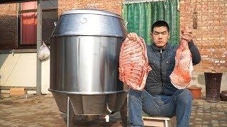 【食味阿远】800块买了个烤炉,阿远烤个羊腿试下,用葡萄酒腌制,烤3小时出锅 | Shi Wei A Yuan