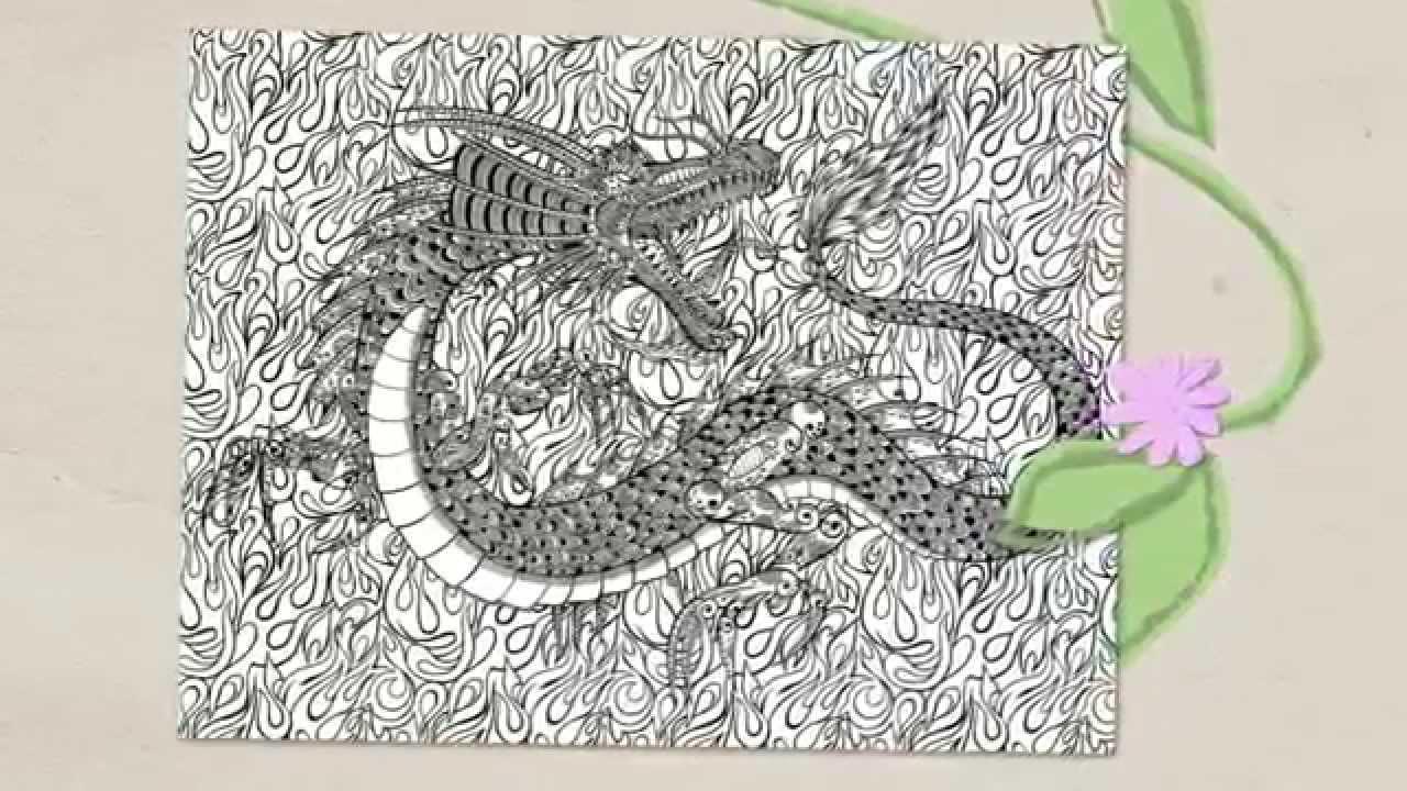 Coloriage zen n 4 teaser 5 dragons youtube - Zen coloriage ...