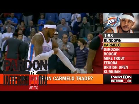 Pardon the Interruption and Kevin Pelton react to Carmelo Anthony being traded from Thunder | ESPN