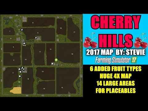 """Farming Simulator 17 - Cherry Hills Map (By Stevie) """"Map Mod Review"""""""