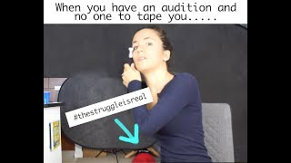 THE STRUGGLE OF SELF TAPE AUDITIONS | FUNNY ACTING REALITY | ACTOR ...