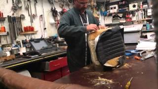Jaguar E Type seats upholstery - stripping