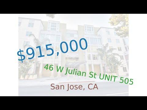 $915,000 San Jose home for sale on 2020-11-28 (46 W Julian St UNIT 505, CA, 95110)