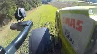 1 5 ha in 10 min grubbern mit einem claas axion 830 cmatic cab view qumox 2015