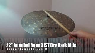 """22"""" Istanbul Agop XIST Dry Dark Ride"""