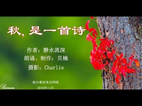 配乐散文朗诵《秋,是一首诗》贝楠朗诵