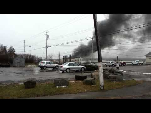 fire in old trenton works building jan 24, 2012