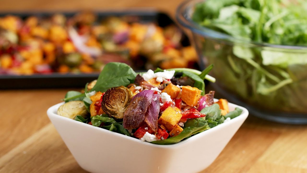 Maple Balsamic Roasted Veggie Salad