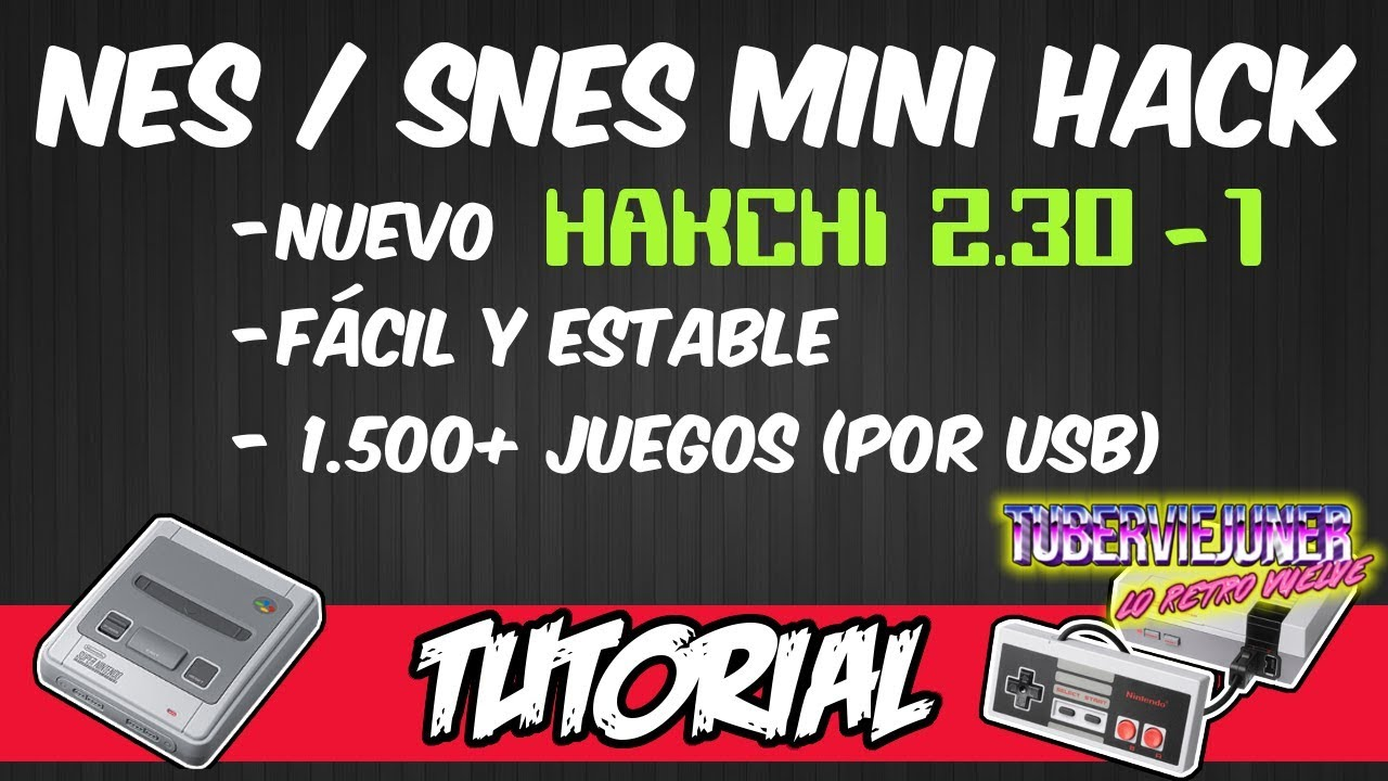 Tutorial: How to mod Nes Snes Mini with hakchi 2 30 + usb OTG external to  add 2000 games mame ps1
