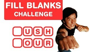 Guess Jackie Chan Movies - Fill in the Blanks - Hollywood Brain Teasers