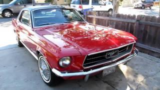 1967 Mustang V8 Red